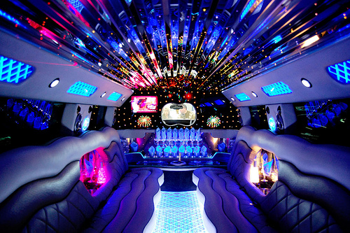 limo party bus inside